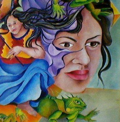Irma Pineda en versión de un artista. Foto: gentileza de Irma Pineda.