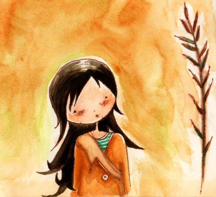 Autorretrato. Lápiz y acuarela sobre papel. Ilustración de Patricia Inda. Foto: Pat