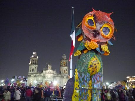 Alebrije en primer plano, Zócalo ciudad de México