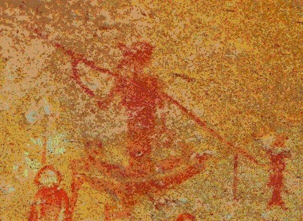 Fragmento de mural. Sitio Nourlangie, territorio del Norte, Australia. Foto: Ximena Jordán.