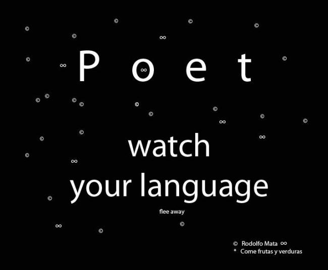 Advertencia. Poema visual por Rodolfo Mata. Imagen: gentileza de Rodolfo Mata.
