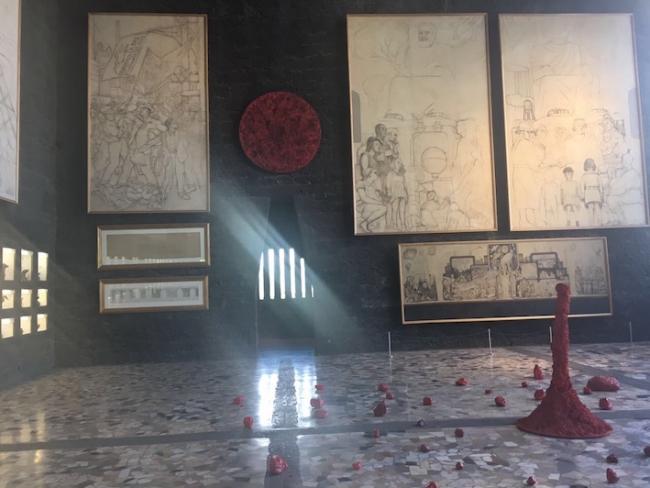 Elemental, arte contemporáneo del artista mexicano Bosco Sodi, en el Museo Anahuacalli. Foto: Ximena Jordán