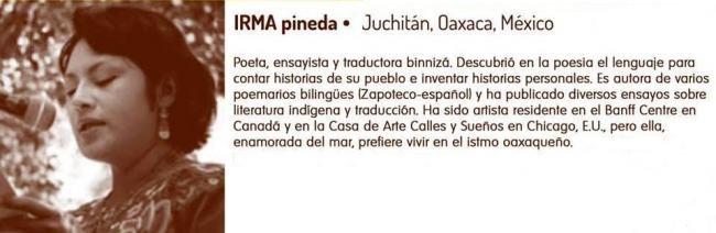 Irma Pineda en Festival Poesía en Voz Alta 2013. Imagen: gentileza de la artista.