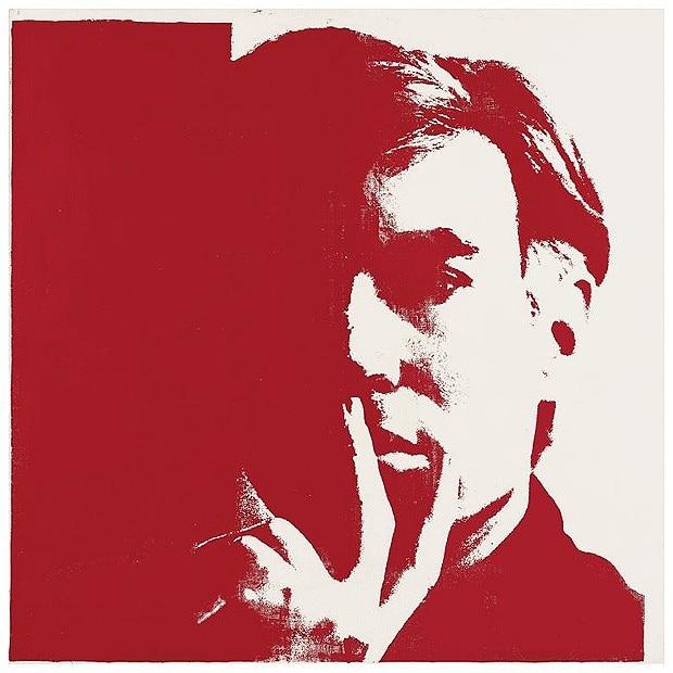Autorretrato por Andy Warhol, 1967. Imagen: http://www.telegraph.co.uk