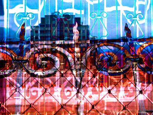 De la serie - Calados - Fotomontaje Digital - Paisaje Urbano - Tulio Restrepo - 2012