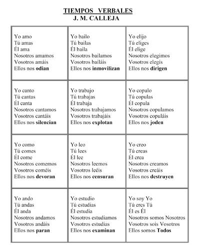 Tiempos Verbales_J.M. Calleja