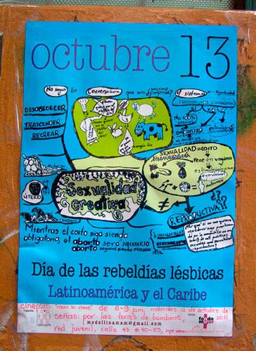 cartel_dia-de-las-rebeldias-lésbicas_Tulio Restrepo