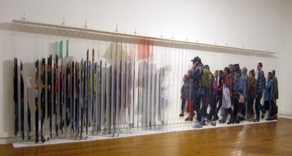 """""""Movimiento Suspendido"""", de Isabel Santibañez, 2013. Fotografía de Nebs Pereira."""
